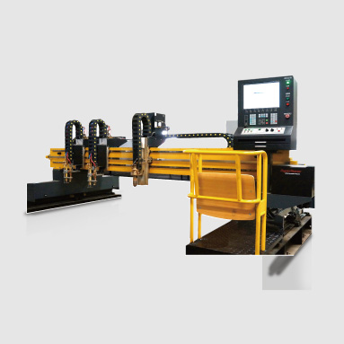 Heacy CNC flame and plasma cutting machines